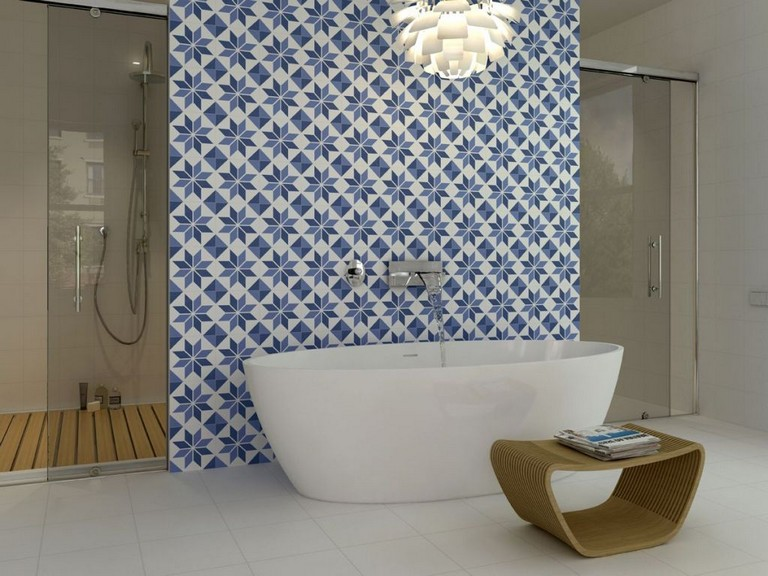 Lively Spanish Tile Bathroom Ideas
