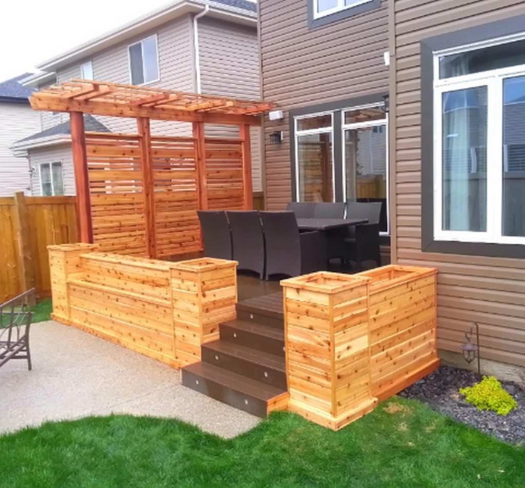 Deck Upgrade Ideas: 30+ PRETTY PRIVACY FENCE PLANTER BOXES TO UPGRADE YOUR